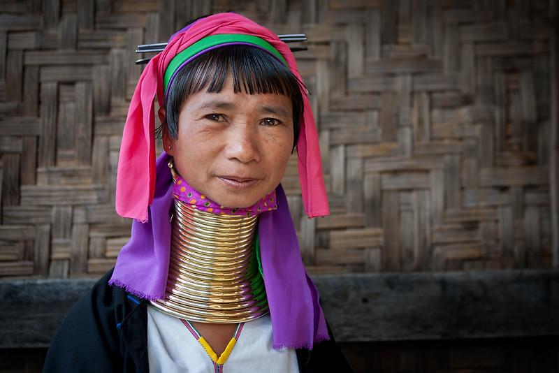 Padaung (Kayan) woman. Nyaungshwe.