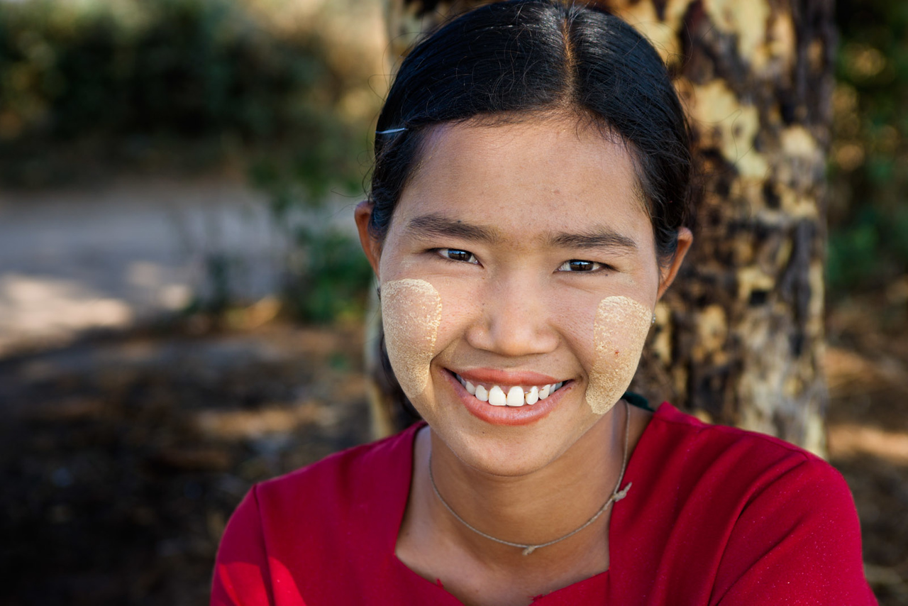 Young girl. Bagan.