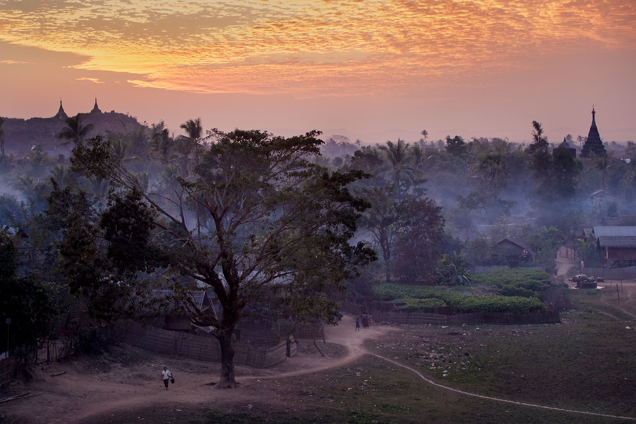 Mrauk U in the evening.