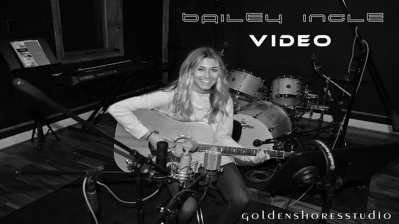"Bailey Ingle performing her song,  ""Limitless"" at Golden Shores Studio. 12/18/2016"