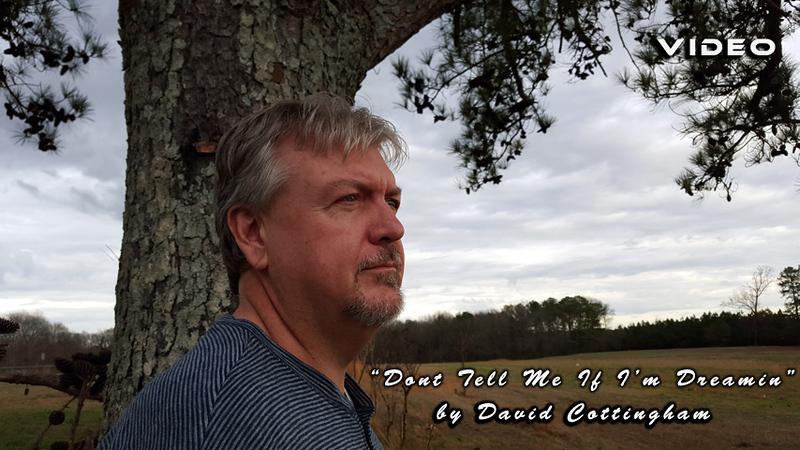"David Cottingham performing, ""Dont  Tell Me if I'm Dreamin ' "" at Golden Shores Studio."