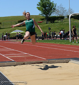 Butte College hosts the Golden Valley Track and Field Championships at the college's stadium Friday, April 28, 2017, in Butte Valley, California. (Dan Reidel -- Enterprise-Record)