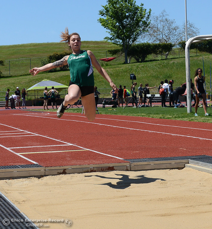 . Butte College hosts the Golden Valley Track and Field Championships at the college\'s stadium Friday, April 28, 2017, in Butte Valley, California. (Dan Reidel -- Enterprise-Record)