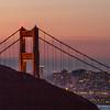 Sunrise Over The Bridge and City