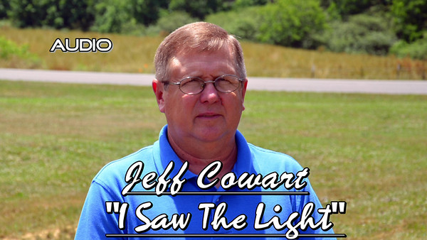"""Jeff Cowart singing, """"I Saw the Light.""""  Christy Clines on piano."""