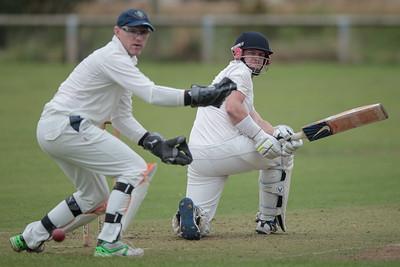 Goldsborough batsman hits the ball for four