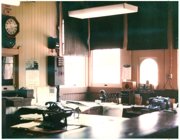 One of Jan Bish's artworks is based on this photo of Goleta Depot's Freight Office.