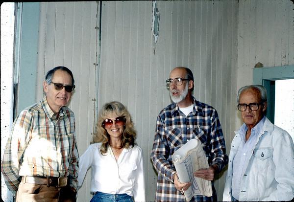 Gene Allen, Phyllis Olsen, Raymond Baird and George Adams.
