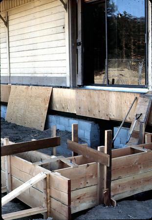Rebuilding the loading dock or freight platform.