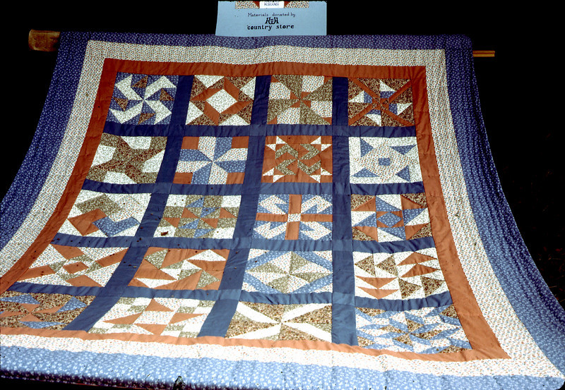 Volunteers made this quilt for the Depot Project. A raffle was held as a fund-raiser.
