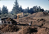 Excavating the footings at the depot's future home.