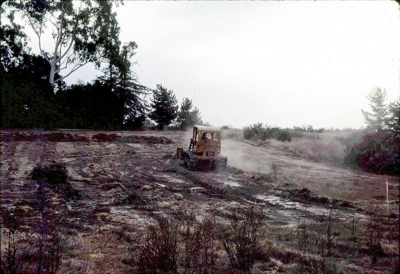 Preparing the 1.6-acre site at Lake Los Carneros County Park.
