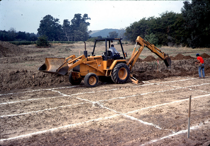 Preparing the site at Los Carneros Park.