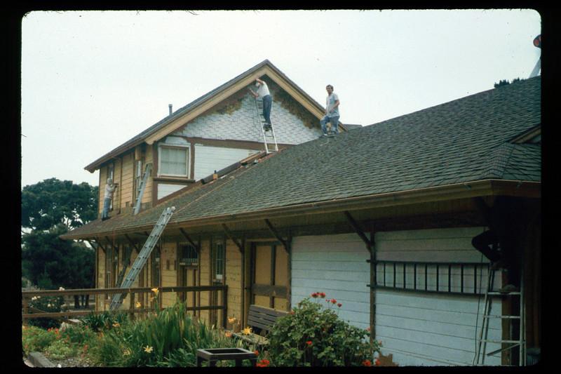 Goleta Depot gets a new coat of paint, 1992. acc2005.001.1642