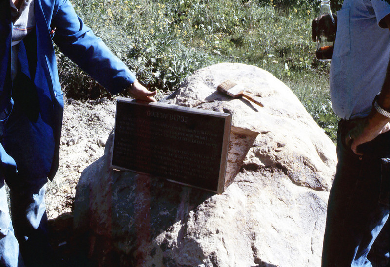 Rock is prepared to accept Native Sons plaque, ca. 11/1/1983 acc2005.001.0436