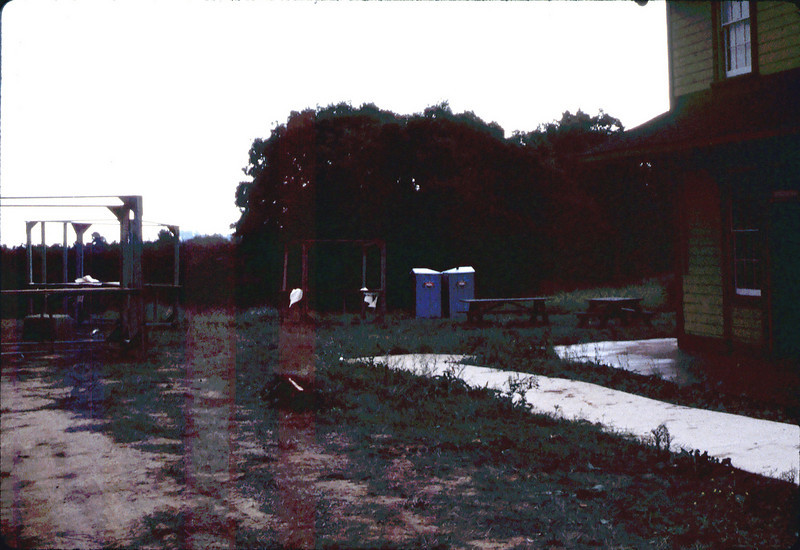 "Preparations for first ""Depot Day"" event, 10/1983. acc2005.001.0418"