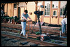 Janet Howard, a graduate student in the film program at the University of Southern California (USC) used Goleta Depot as the principle location for her master's thesis film, May 1998. Reported in the museum's Depot Dispatch newsletter, Vol 18, No. 2 (Summer 1998). acc2005.001.2171