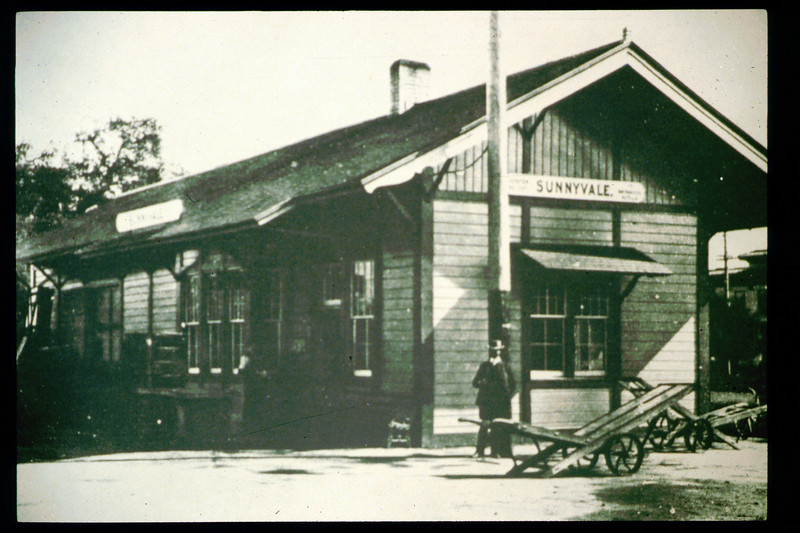 The Sunnyvale, Calif. depot building formerly served as the original 1887 Goleta depot. acc2005.001.1796