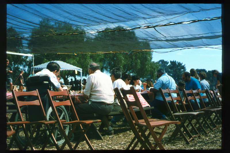 Depot Day 1995 was held Sept. 24 (visitors eating) acc2005.001.2110