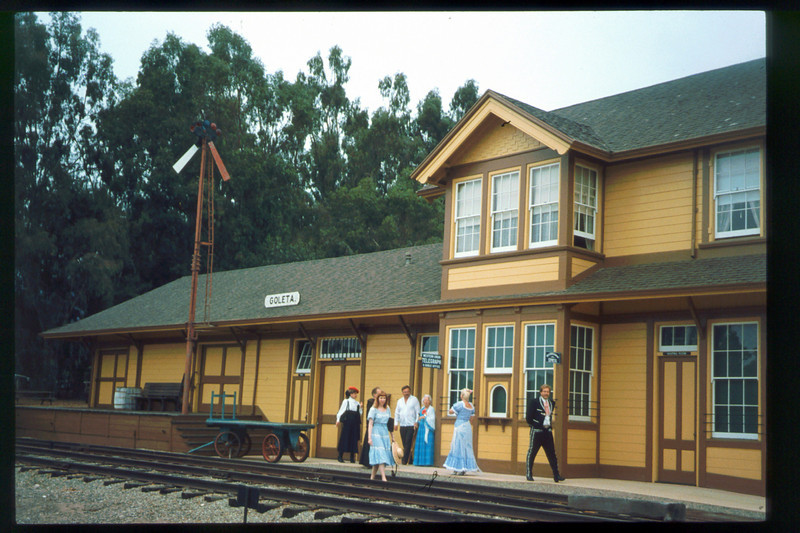 The traditional Santa Barbara Old Spanish Days Committee<br /> photograph was taken at Goleta Depot. The photo was published in the Santa Barbara<br /> News-Press on Aug. 1, 1993. acc2005.001.1824