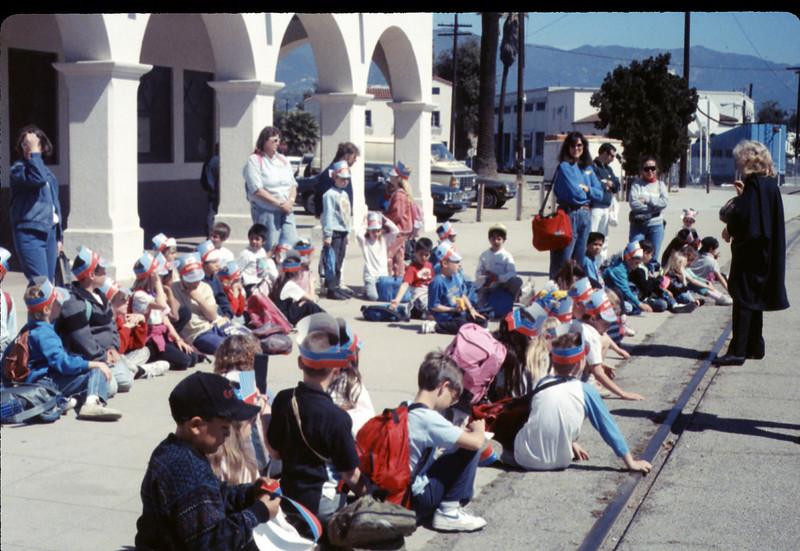 Foothill Elementary School 3rd Grade trip to San Luis Obispo, 3/22/1990. acc2005.001.1293