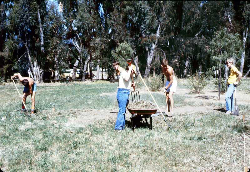 Eagle Scout project creates first picnic area on grounds, 1984. acc2005.001.0451