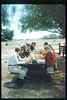 Santa Barbara-area museum directors hold a luncheon meeting at the railroad museum, Aug. 11, 1993. acc2005.001.1861
