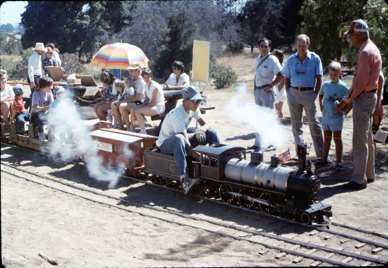 Santa Barbara Railroad Centennial (Steve Kramer, engineer), 8/1987 edit acc2005.001.0857