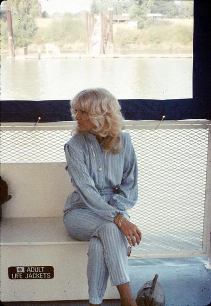 Phyllis Olsen at Old Sacramento, 9/20/1987. acc2005.001.0873