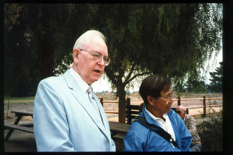 Memorial and tree-dedication honoring late museum benefactor Earl Hill (Steve Sullivan), 8/8/1992. acc2005.001.1659