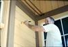 Eugene Boswell paints Goleta Depot, 7/1988. acc2005.001.0990
