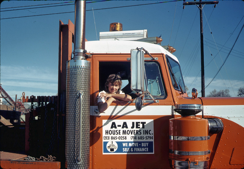 Moving Day, 11/18/1981. Stephanie Coombs in AA Jet truck. acc2005.001.0085