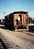 Phyllis Olsen with Caboose 4023 at La Patera, 9/21/1986 acc2005.001.0613