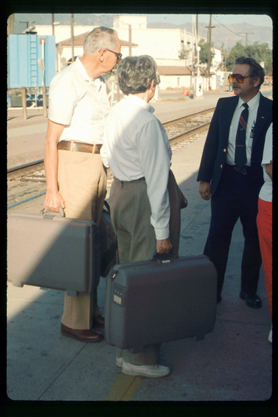 Gene and Alma Allen on a personal trip via Amtrak to Washington, D.C., 10/1990. acc2005.001.1443