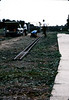 "Laying track for first ""Depot Day"" event, 10/1983. acc2005.001.0419"