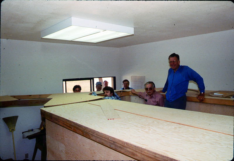 Model-Railroad Exhibit construction, 5/1985 acc2005.001.0526