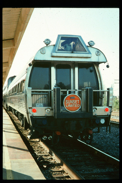 Museum Director Gary Coombs and Assistant Director Phyllis Olsen rode the inaugural cross-country Sunset Limited train, Los Angeles-to-Miami and return, as guests of Amtrak, March 28-April 6, 1993. acc2005.001.1758