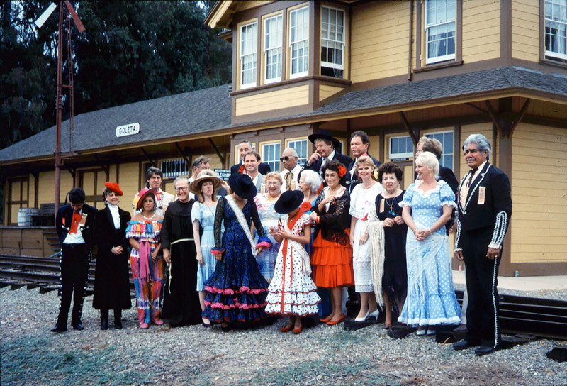 The traditional Santa Barbara Old Spanish Days Committee<br /> photograph was taken at Goleta Depot. The photo was published in the Santa Barbara<br /> News-Press on Aug. 1, 1993. acc2005.001.1831
