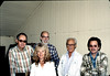 Gene Allen, Phyllis Olsen, Ray Baird, George Adams,and Michael Glassow, Feb. 1982. acc2005.001.0147