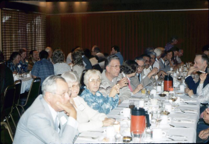 Annual Dinner, Bray's Restaurant, 4/30/1986 acc2005.001.0587