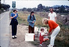 Asphalt Regatta spring fundraiser (Diana Mina, Judy Savage, Ed Savage, and Phyllis Olsen), 4/1989. acc2005.001.1100
