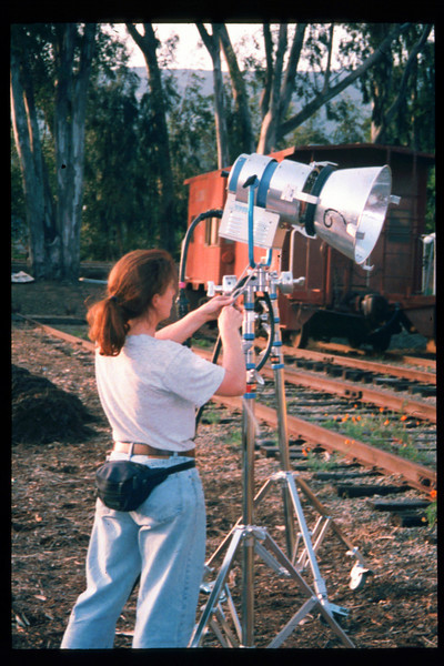 Janet Howard, a graduate student in the film program at the University of Southern California (USC) used Goleta Depot as the principle location for her master's thesis film, May 1998. Reported in the museum's Depot Dispatch newsletter, Vol 18, No. 2 (Summer 1998). acc2005.001.2172
