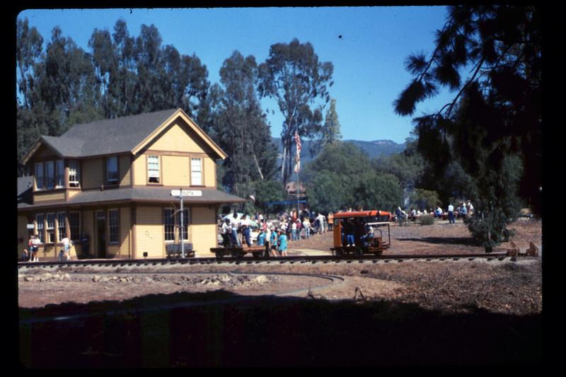 Depot Day handcar & speeder rides, 10/1990. acc2005.001.1415
