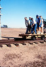 Handcar rides at museum begin, 11/1989. acc2005.001.1220