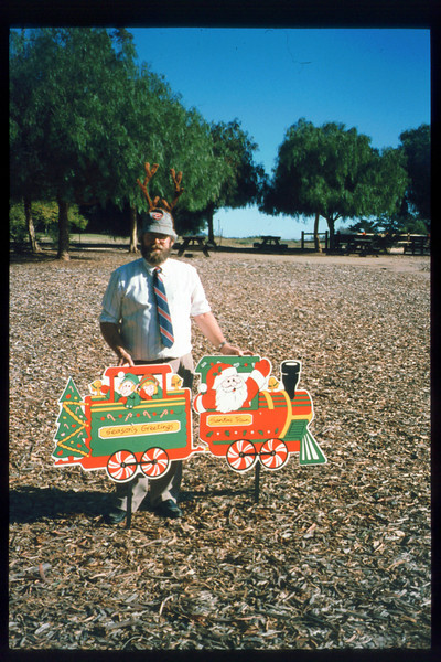 """The """"Holiday Train"""" event, which later became the """"Candy Cane Train,"""" was first held in 1993, from Nov. 26 thru Dec. 24. acc2005.001.1890"""