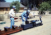 Fourth of July miniature-train rides (Perry Adams, right), 7/4/1987 acc2005.001.0826