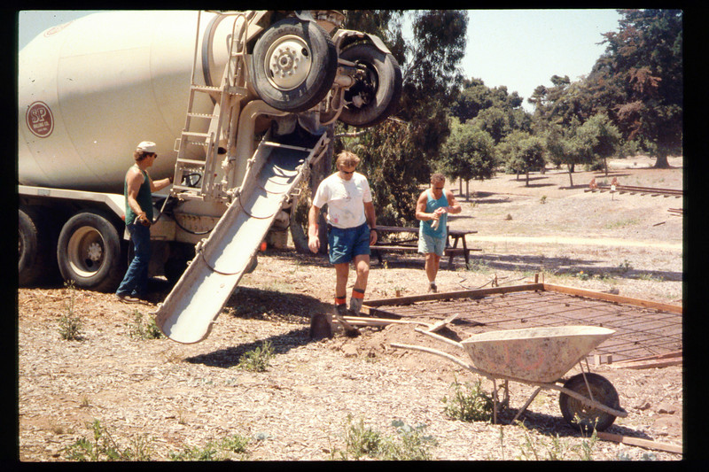 The Goleta Lions Club commissioned the construction of an 11x14-foot pad near the flagpole, to be used for the preparation and sale of food during special events, or for other museum activities, 1994. acc2005.001.1946