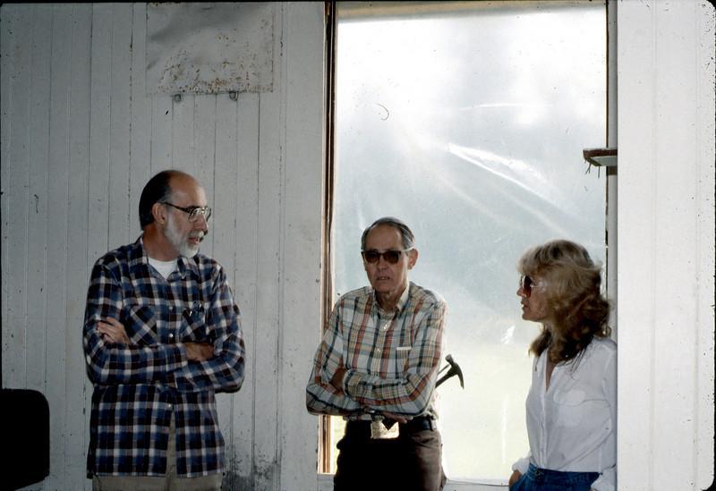 Ray Baird, Gene Allen, and Phyllis Olsen, Feb. 1982. acc2005.001.0149