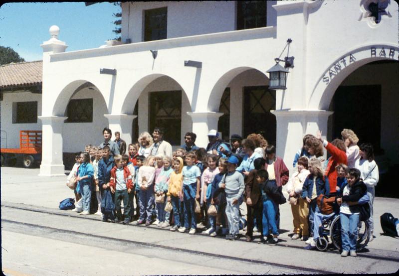 La Patera Elementary School rail trip, 5/6/1988. acc2005.001.0955