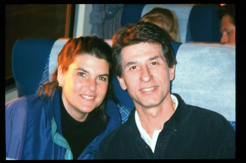 """During the 1995 Sweetheart Special trip to San Diego, Peter Bie and Catherine Remak were elected the """"Sweetheart Couple"""", Feb. 11-12, 1995. acc2005.001.2024"""